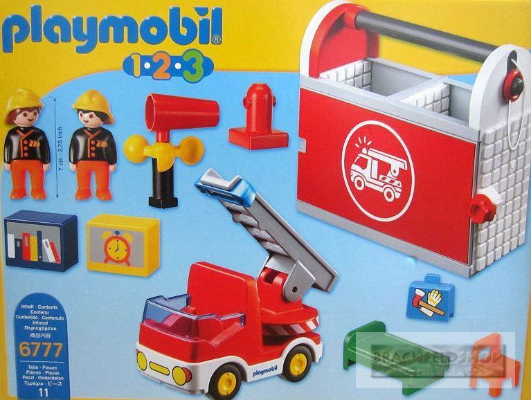 playmobil 6777 meine mitnehm feuerwehrstation koffer ab 1. Black Bedroom Furniture Sets. Home Design Ideas