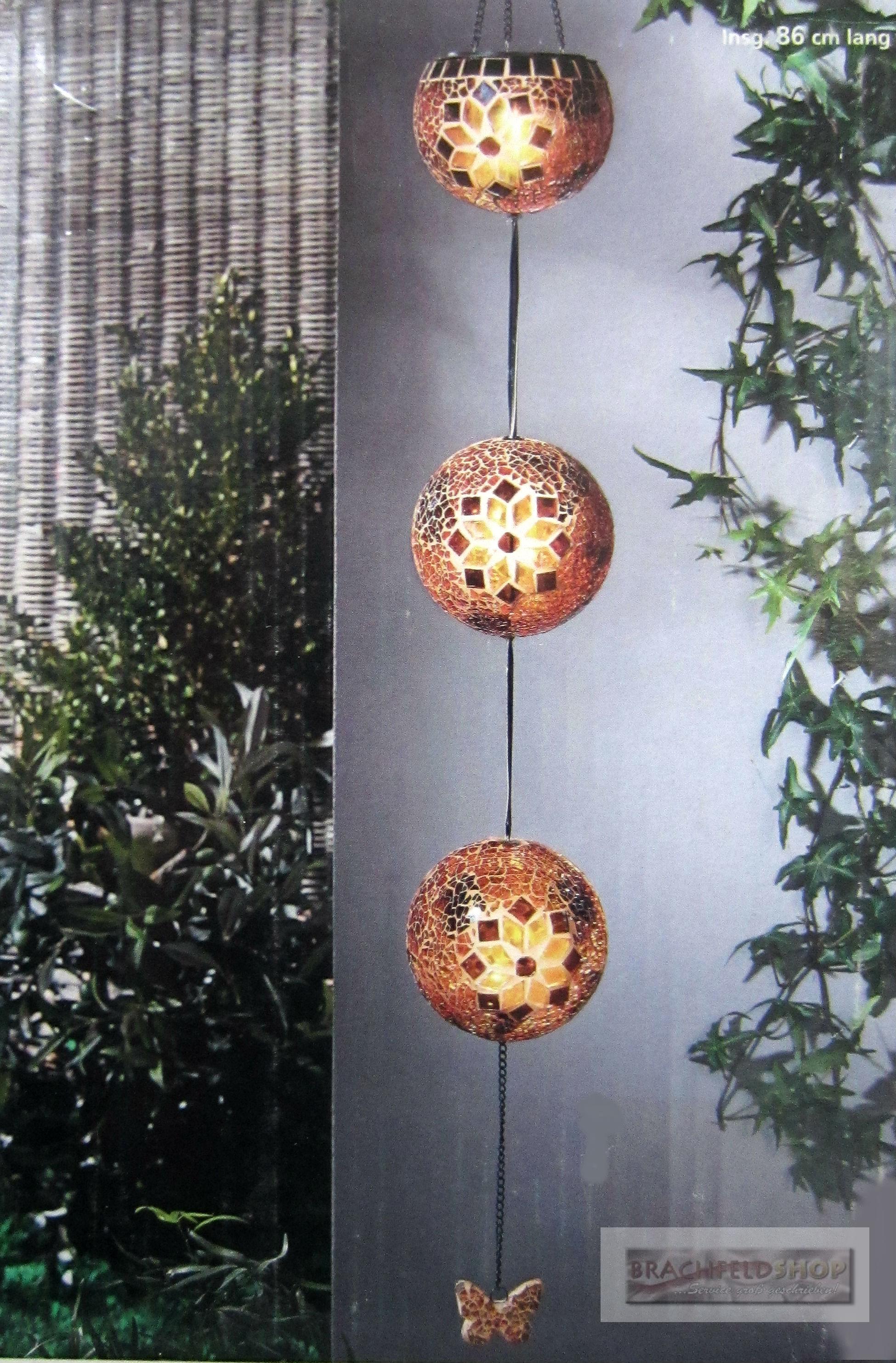 solar mobile 3 kugeln schmetterling led h ngedeko solarleuchte mosaik 2 wahl ebay. Black Bedroom Furniture Sets. Home Design Ideas