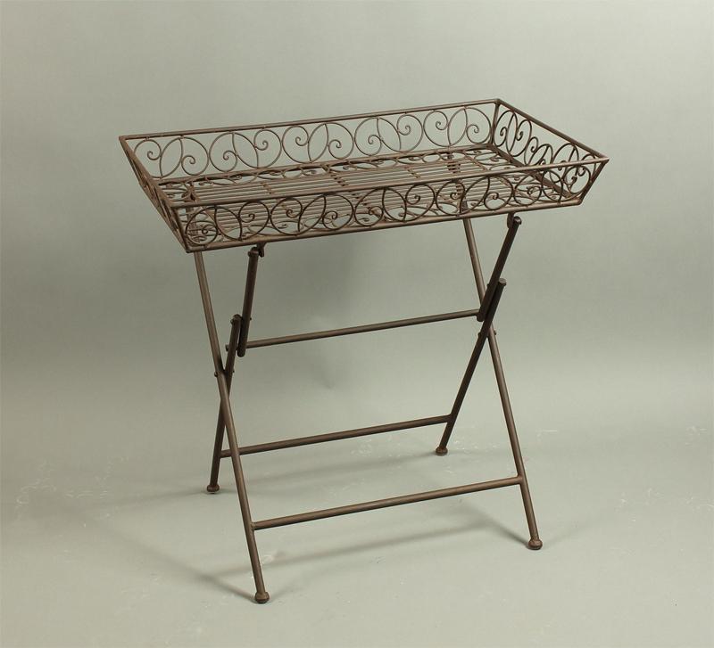 eisentisch tabletttisch rechteckig klappbar rostbraun. Black Bedroom Furniture Sets. Home Design Ideas
