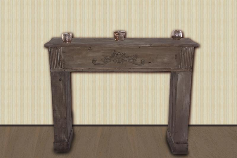 kaminkonsole kaminumrandung anrichte used look antik braun. Black Bedroom Furniture Sets. Home Design Ideas