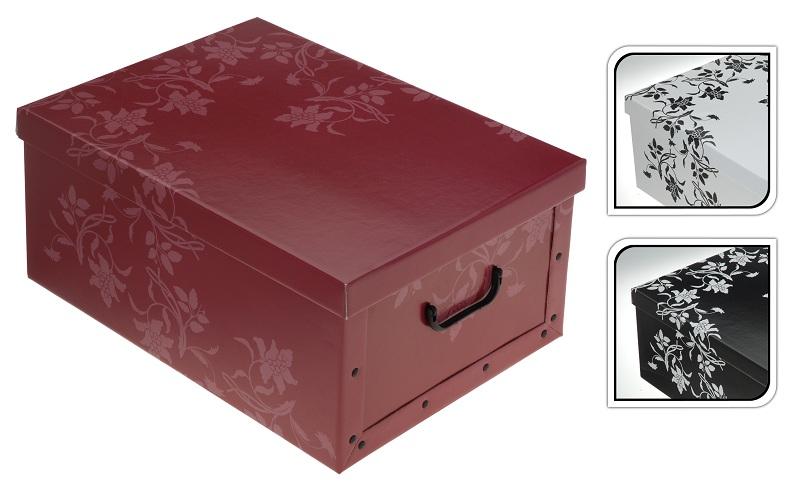 2er Aufbewahrungs Box mit Deckel Floralmuster Kiste Karton