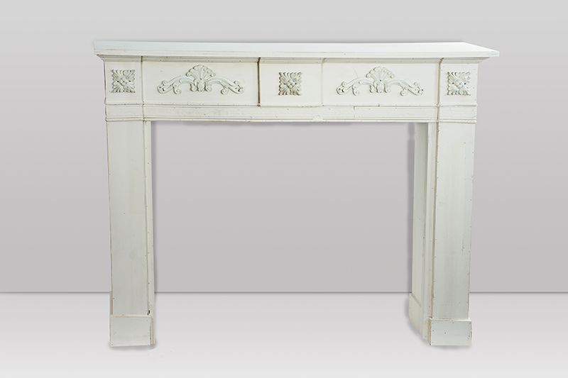 kaminkonsole kaminumrandung anrichte xl used look antik weiss grau ebay. Black Bedroom Furniture Sets. Home Design Ideas
