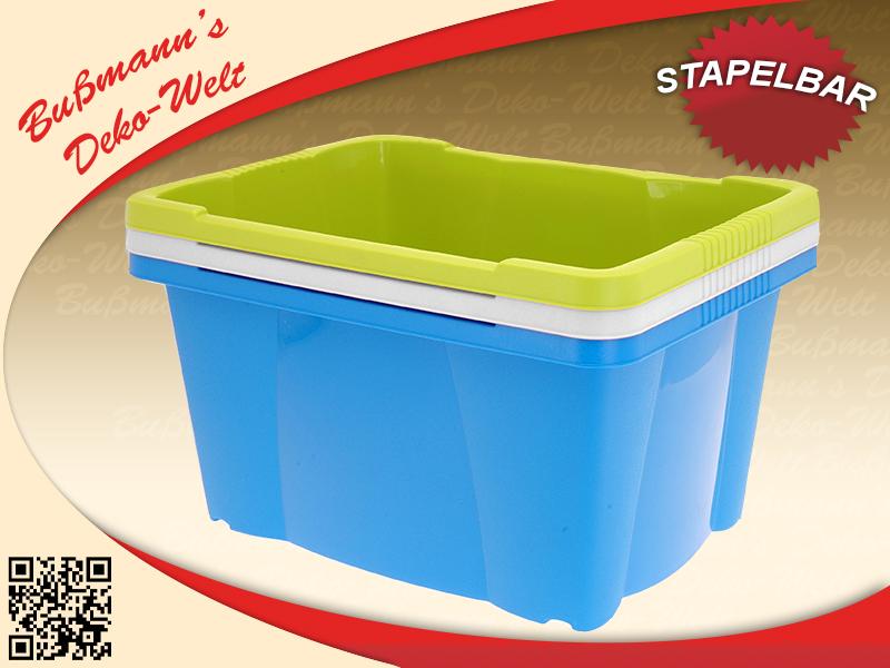 2 stapelboxen multiboxen 20l aufbewahrungsboxen kunststoffboxen box boxen kiste ebay. Black Bedroom Furniture Sets. Home Design Ideas