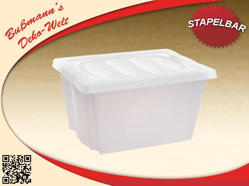 2 stapelbox mit deckel lifestyle 20 l aufbewahrungsbox. Black Bedroom Furniture Sets. Home Design Ideas