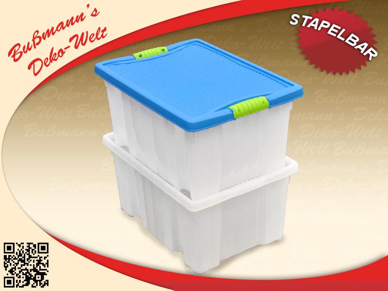 2 stapelboxen mit deckel 14 l aufbewahrungsbox. Black Bedroom Furniture Sets. Home Design Ideas
