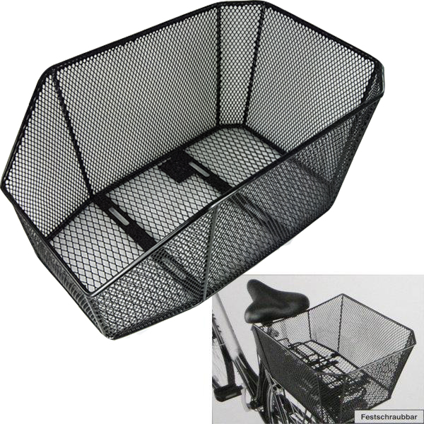 fahrradkorb einkaufskorb xxl f r hinten fahrrad korb ebay. Black Bedroom Furniture Sets. Home Design Ideas