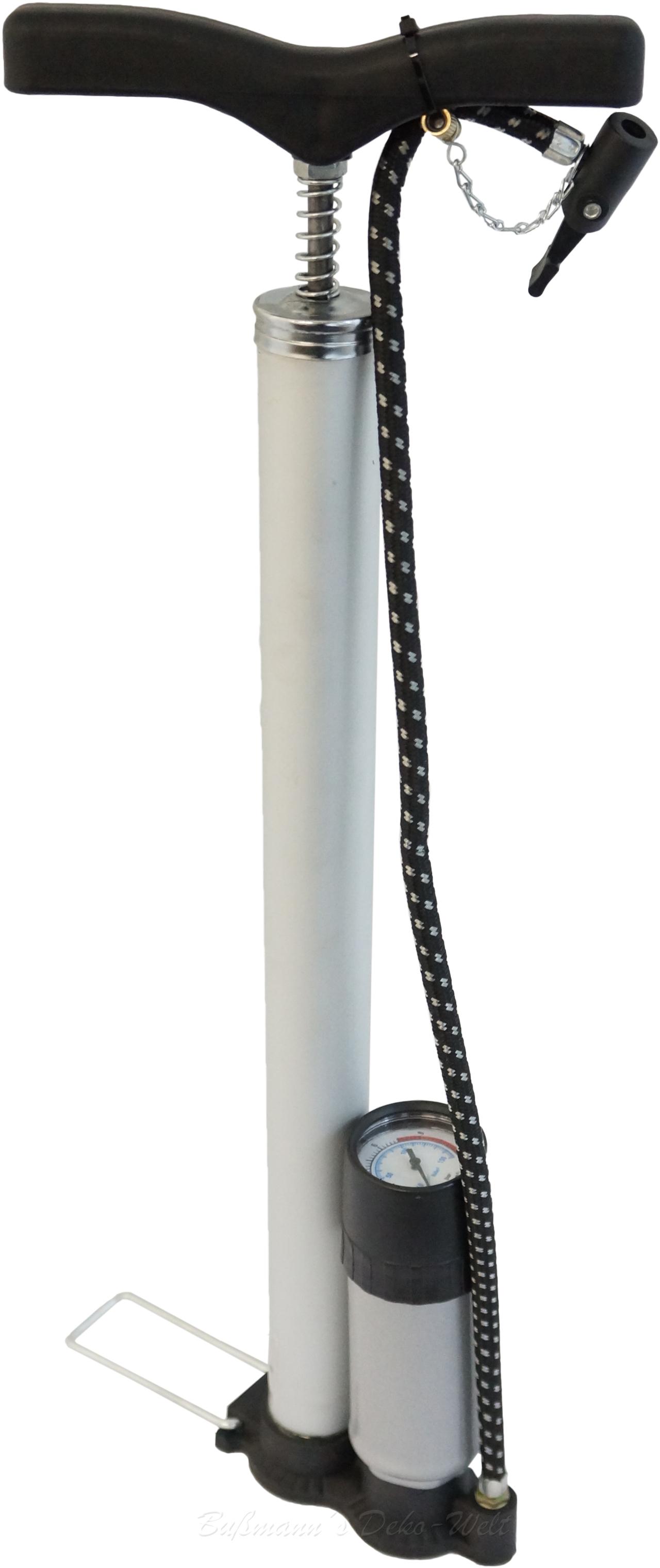 fahrradpumpe mit manometer alu fahrrad pumpe luftpumpe ebay. Black Bedroom Furniture Sets. Home Design Ideas