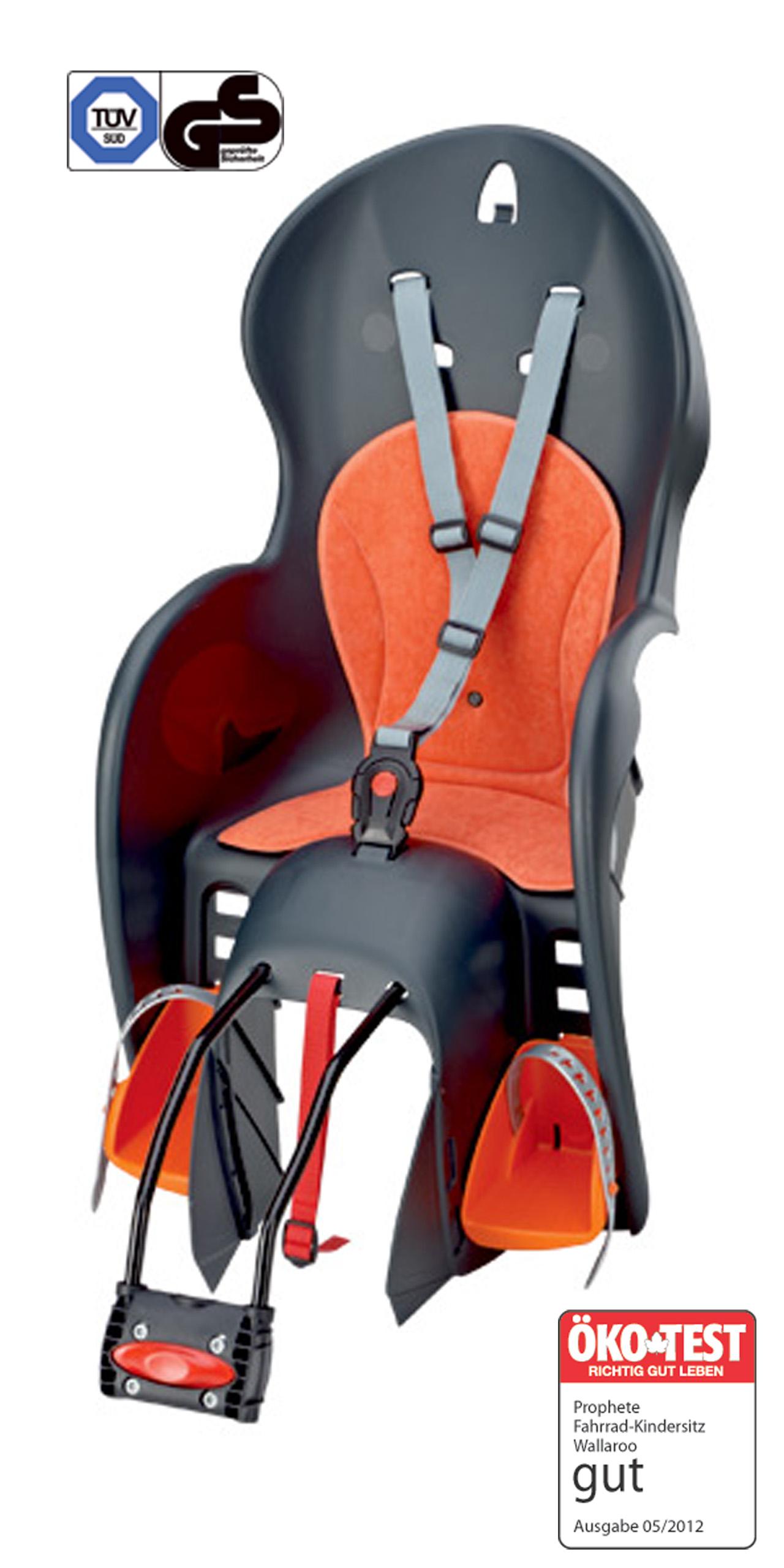 fahrrad kindersitz wallaroo mit rahmenhalterung. Black Bedroom Furniture Sets. Home Design Ideas