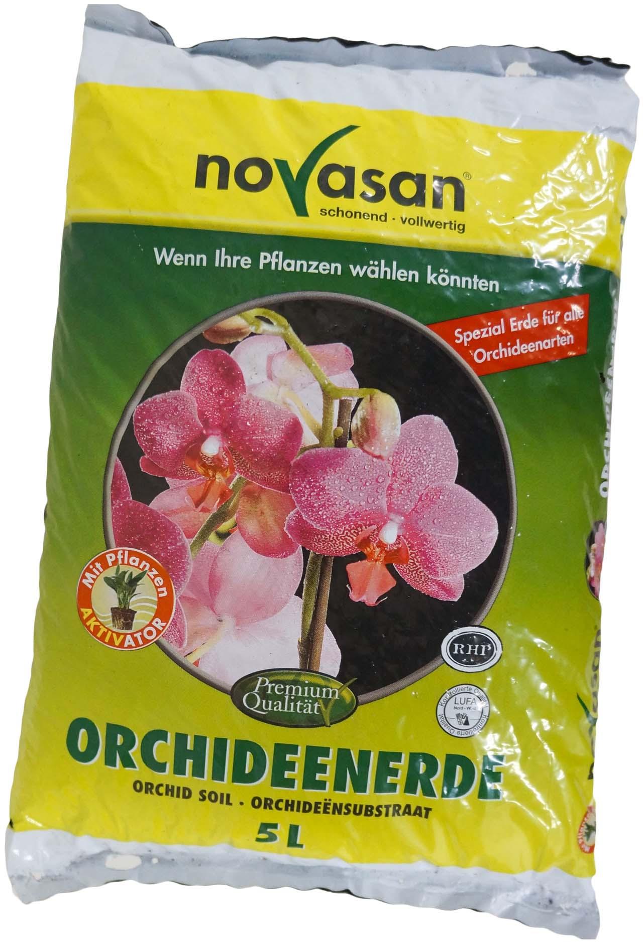 5 l orchideenerde novasan blumenerde erde pflanzerde. Black Bedroom Furniture Sets. Home Design Ideas