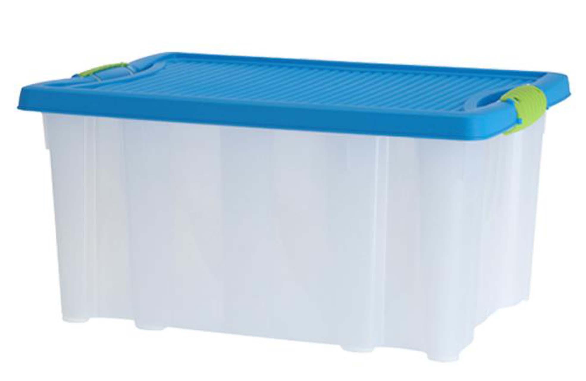 2er Stapelboxen mit Deckel 13 L Aufbewahrungsbox