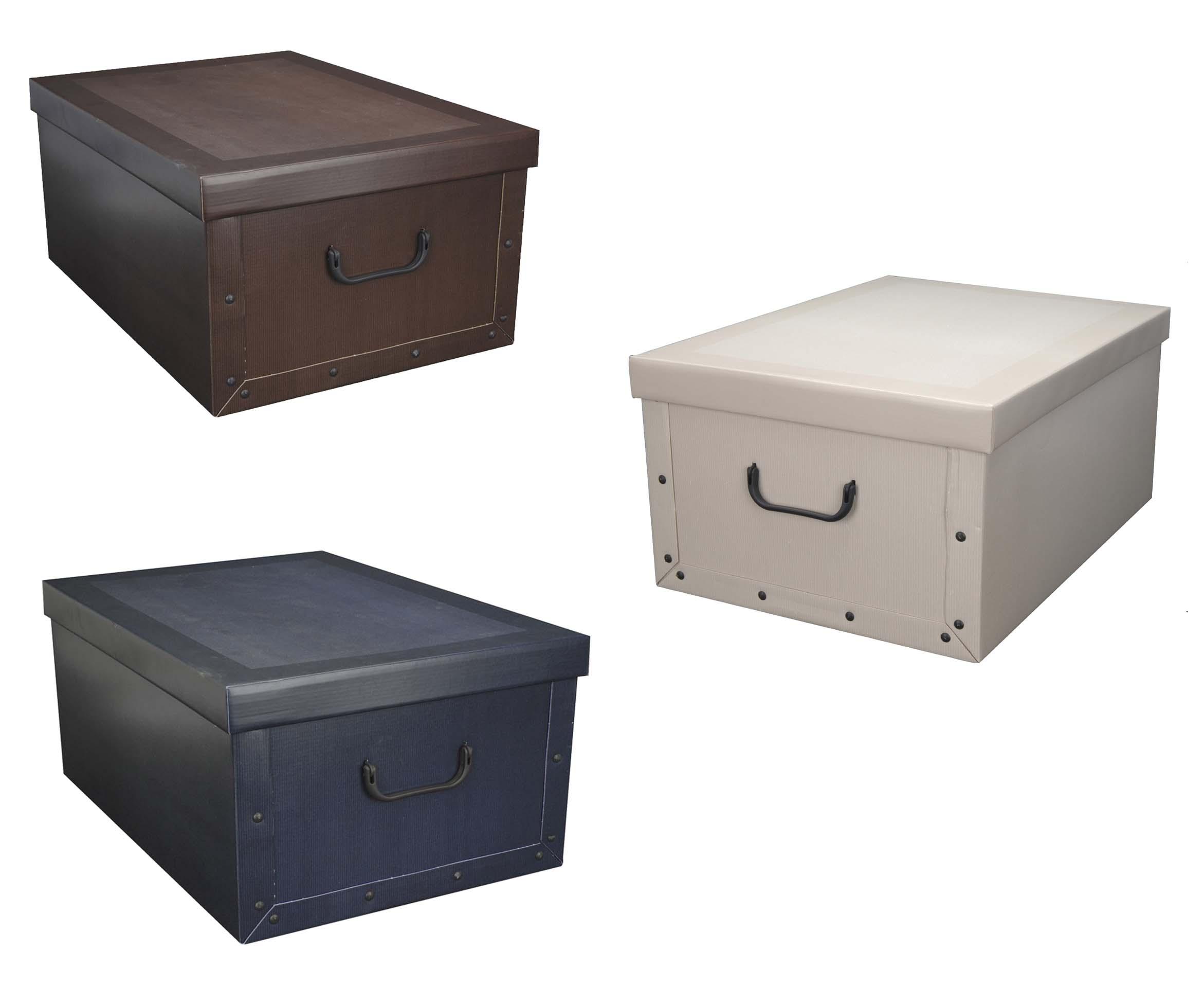 2x aufbewahrungs box mit deckel classicmuster kiste karton. Black Bedroom Furniture Sets. Home Design Ideas