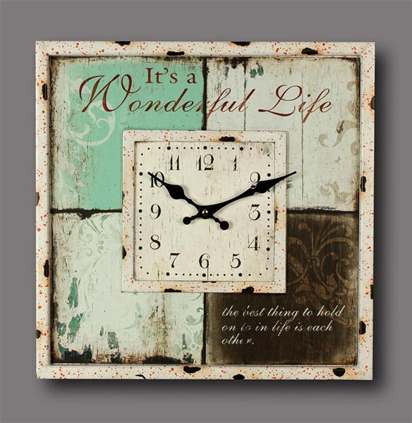 wanduhr k chenuhr antik wonderful life 40cm uhr ebay. Black Bedroom Furniture Sets. Home Design Ideas
