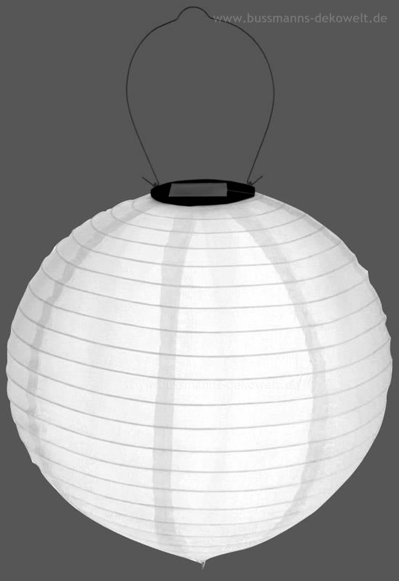led solar lampion wei rund 30 cm lampions solarlampion ebay. Black Bedroom Furniture Sets. Home Design Ideas