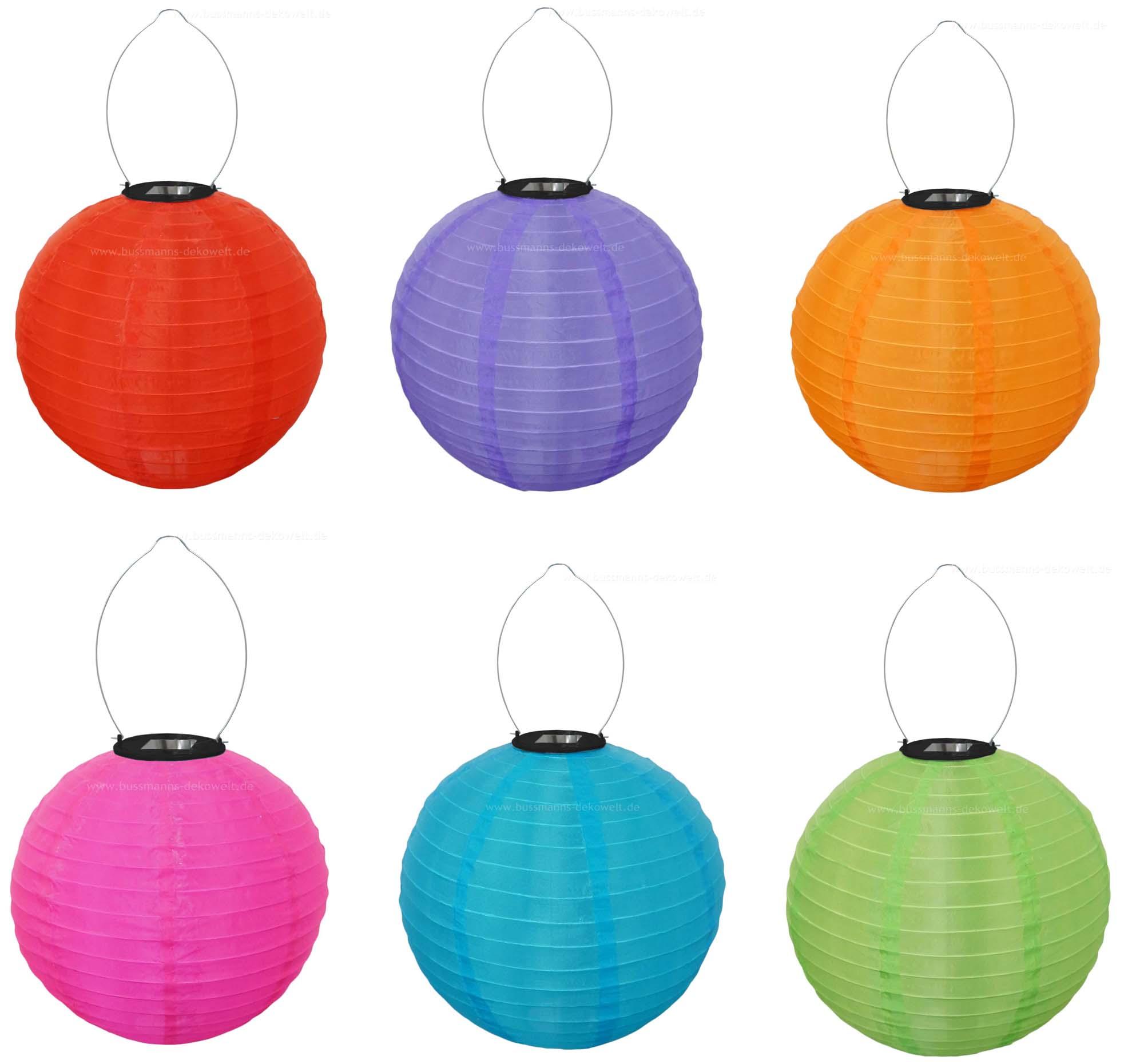 led solar lampion bunt rund 30 cm lampions solarlampion ebay. Black Bedroom Furniture Sets. Home Design Ideas