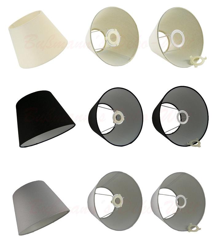 lampenschirm stoff textil schirm 19cm lampe ebay. Black Bedroom Furniture Sets. Home Design Ideas