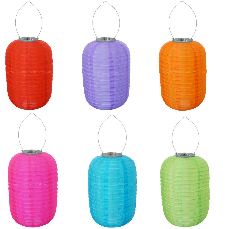 asiatischer led solar lampion bunt oval 30cm lampions. Black Bedroom Furniture Sets. Home Design Ideas