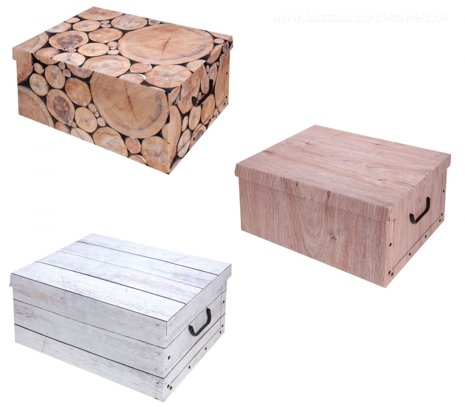 2x aufbewahrungs box mit deckel purenature kiste karton schachtel ebay. Black Bedroom Furniture Sets. Home Design Ideas