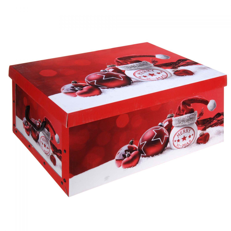 2x aufbewahrungs box mit deckel weihnachtskugeln kiste karton schachtel pappe ebay. Black Bedroom Furniture Sets. Home Design Ideas