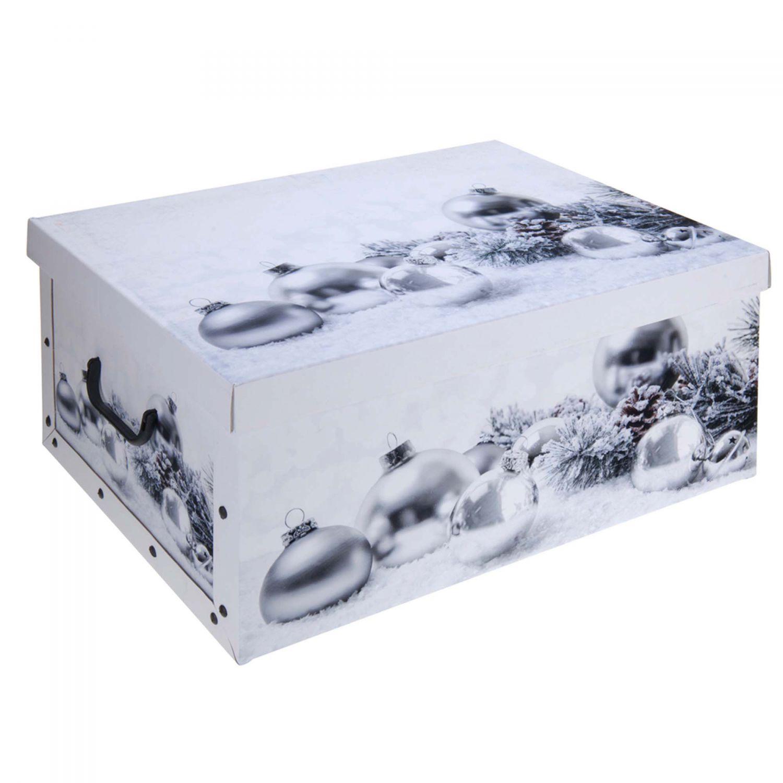 2x aufbewahrungs box mit deckel weihnachtskugeln kiste. Black Bedroom Furniture Sets. Home Design Ideas