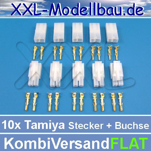 10x-GOLD-Tamiya-Stecker-Buchse-Goldkontakte-Lipo-Akku-vergoldet-13-4mm