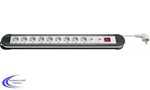 9-fach-Steckdosenleiste-mit-Uberspannungsschutz-Schalter-und-1-5-m-Kabel