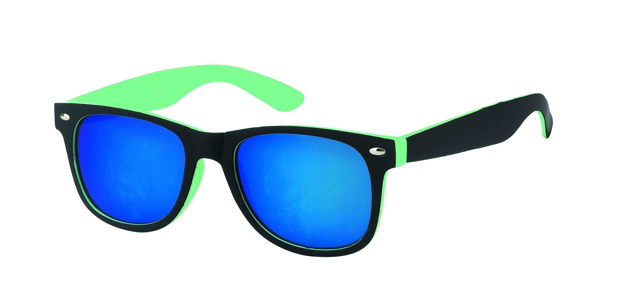 sonnenbrille verspiegelt schmal 400 uv nerdbrille schwarz. Black Bedroom Furniture Sets. Home Design Ideas