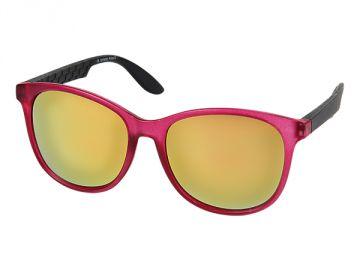 Sonnenbrille Nerd Brille verspiegelt Bügel eckig 400 UV grün pink blau grau cr7s0x3
