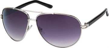 Sonnenbrille Pilotenbrille 400 UV Metall getönt gebogen Steg oben geriffelt weiß bH0ruR4Vbf