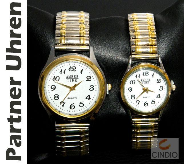 designer partner uhren damenuhr herrenuhr damen herren uhr armbanduhr zugband ebay. Black Bedroom Furniture Sets. Home Design Ideas