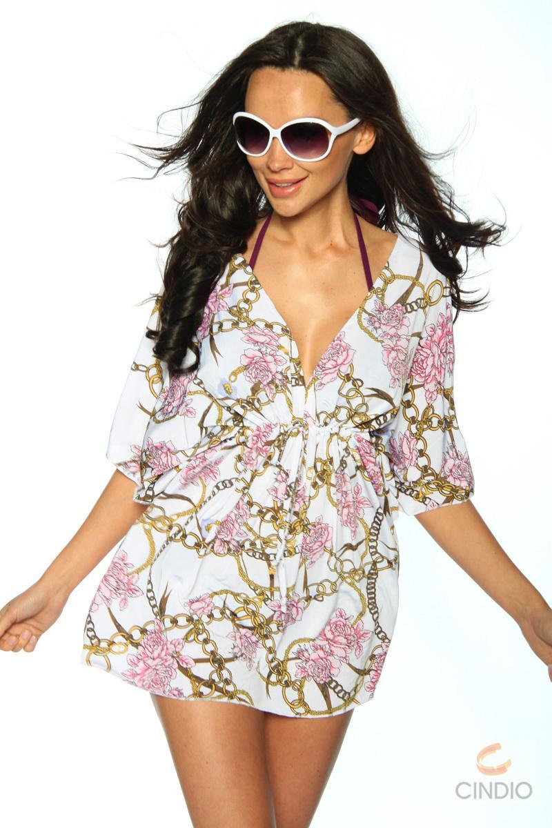 bunte strand tunika sarong strandkleid aus chiffon mit muster strandtuch top ebay. Black Bedroom Furniture Sets. Home Design Ideas