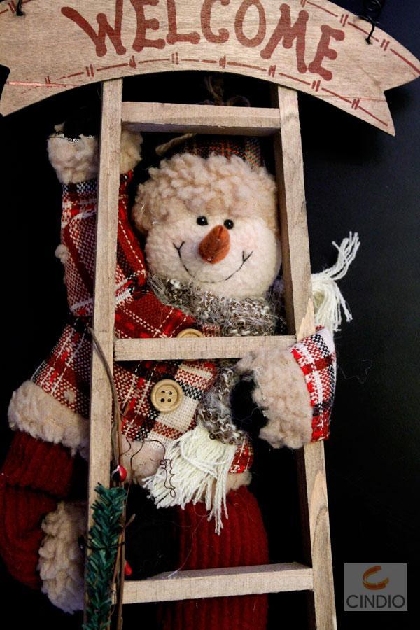 t rkranz t rh nger t rdeko weihnachten schneemann leiter. Black Bedroom Furniture Sets. Home Design Ideas