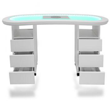 studio tisch nageltisch manik rtisch mit led beleuchtung kinderschreibtisch ebay. Black Bedroom Furniture Sets. Home Design Ideas