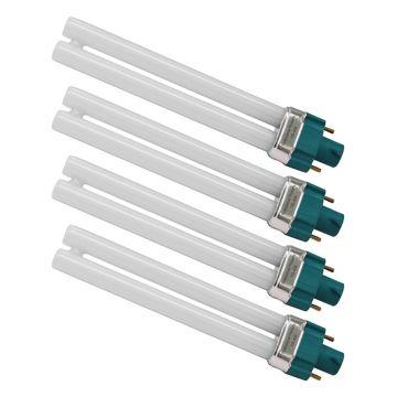 4 PIECE UV Bulb Tube 9Watt - also octagonal base de Luxe