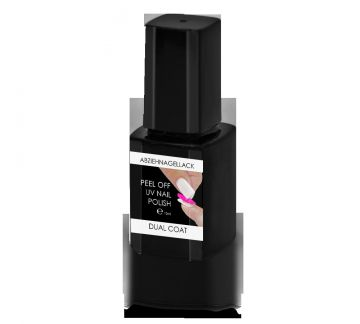 PEEL OFF DUAL COAT - UV POLISH for peelable nail polish - 10ml NEW !!