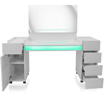 tocador mesa tocador escritorio ft 05 blanco con espejo cajones ebay. Black Bedroom Furniture Sets. Home Design Ideas