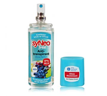 syneo free 48h pumpspray 0 alu 75ml deo anti transpirant unisex ebay. Black Bedroom Furniture Sets. Home Design Ideas