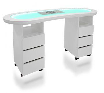studiotisch nagel tisch manik r tisch mit led beleuchtung. Black Bedroom Furniture Sets. Home Design Ideas