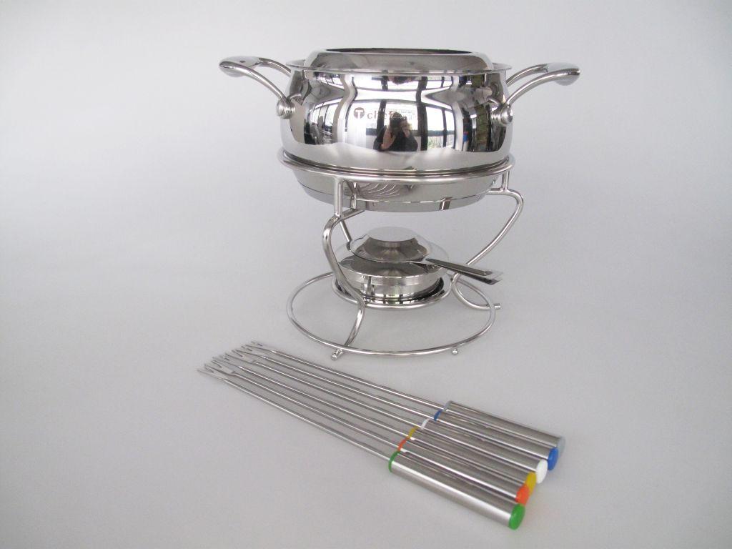 tupperware chef serie fondue set fondue edelstahl topf. Black Bedroom Furniture Sets. Home Design Ideas