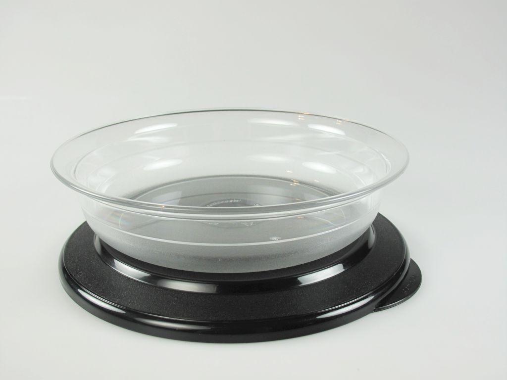 tupperware kl tafelperle flach sch ssel 350 ml decke schwarz ebay. Black Bedroom Furniture Sets. Home Design Ideas