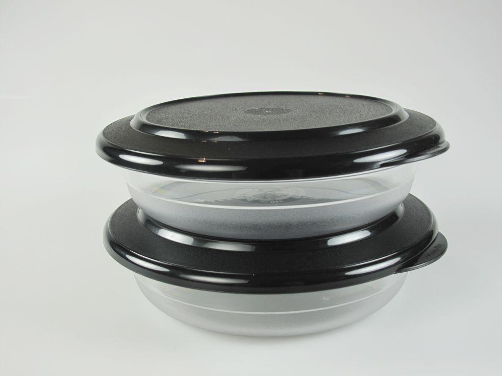 tupperware 2 x kl tafelperle flach sch ssel 350 ml decke schwarz tafelfeine ebay. Black Bedroom Furniture Sets. Home Design Ideas