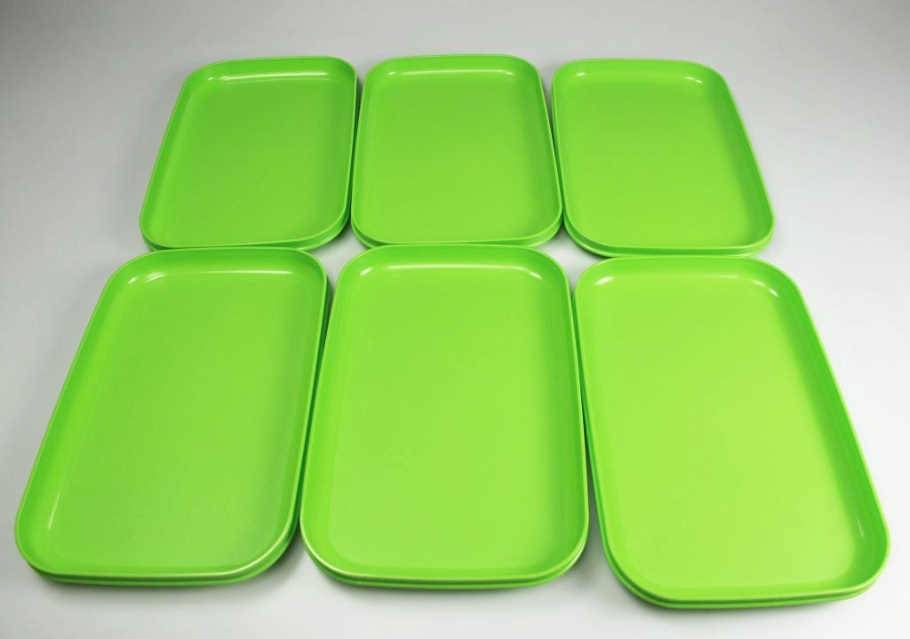 tupperware picknickteller gr n set 6 teller picknick ebay. Black Bedroom Furniture Sets. Home Design Ideas