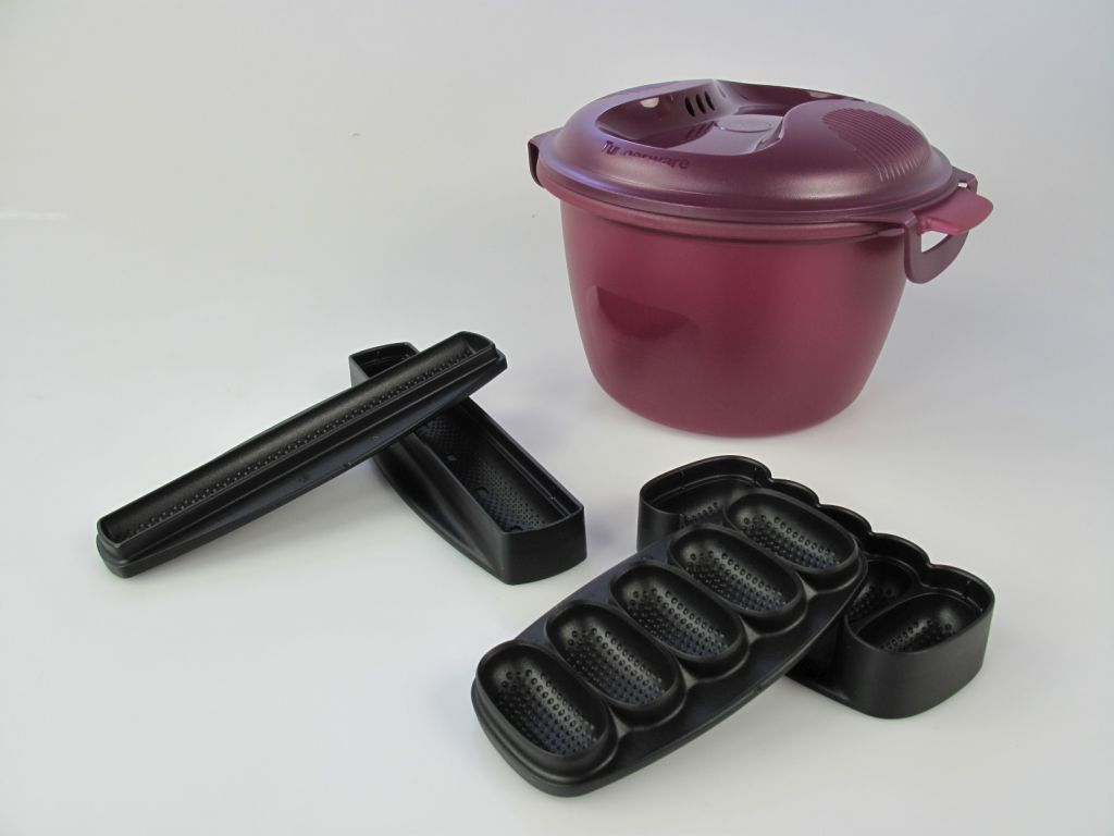 tupperware i56 reis meister 2 2 l teufel lila reiskocher sushi schwarz nigiri ebay. Black Bedroom Furniture Sets. Home Design Ideas