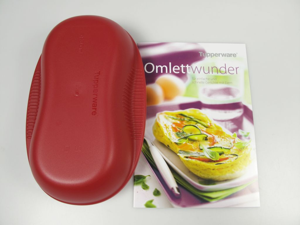 tupperware omlett meister rot eierspeisen f r mikrowelle tupperware rezeptheft ebay. Black Bedroom Furniture Sets. Home Design Ideas