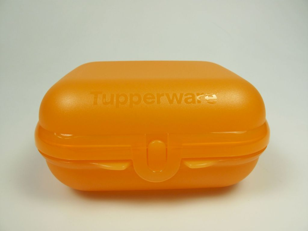 tupperware twin 1 brotdose box beh lter orange neu ebay. Black Bedroom Furniture Sets. Home Design Ideas