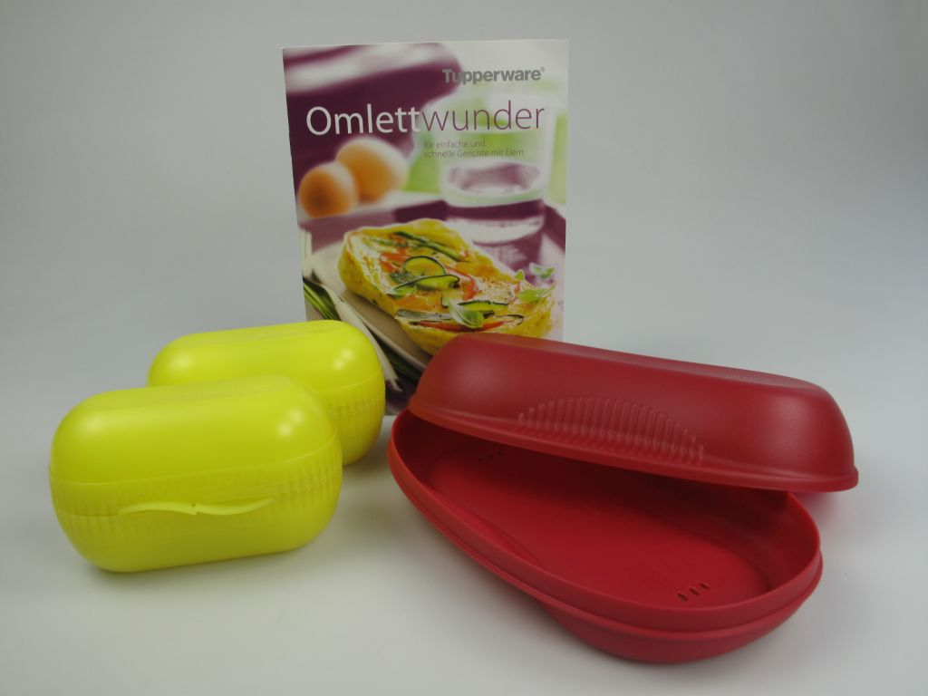 tupperware omlett meister rot eierspeisen f r mikrowelle rezeptheft omelett wu ebay. Black Bedroom Furniture Sets. Home Design Ideas