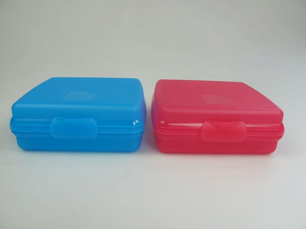 tupperware sandwich box bo te r cipient rose bleu ebay. Black Bedroom Furniture Sets. Home Design Ideas