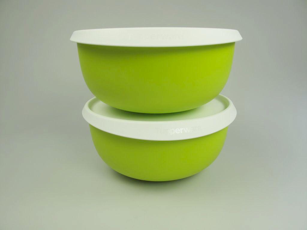 tupperware natura vert r hrsch ssel bol 2x 2 5 l jaune vert ebay. Black Bedroom Furniture Sets. Home Design Ideas