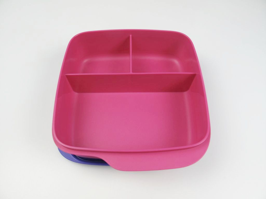tupperware lunchbox beh lter pink lila mit trennwand 550 ml brotbox schule kindi ebay. Black Bedroom Furniture Sets. Home Design Ideas