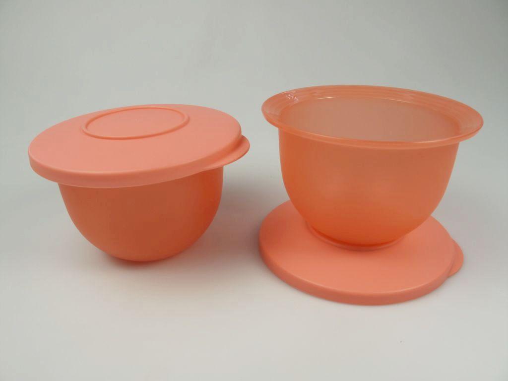 tupperware j45 junge welle 2 x 550 ml sch sseln pastellorange pfirsich ebay. Black Bedroom Furniture Sets. Home Design Ideas