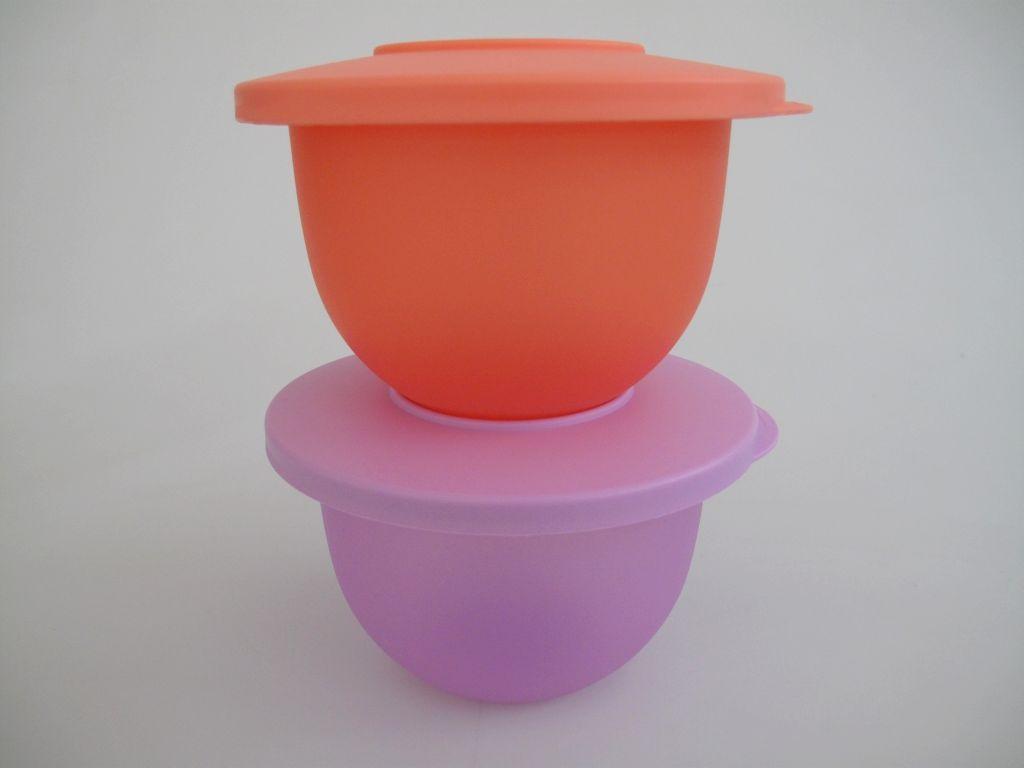 tupperware j45 junge welle kleine sch sseln 550 ml 2 lila pfirsich ebay. Black Bedroom Furniture Sets. Home Design Ideas